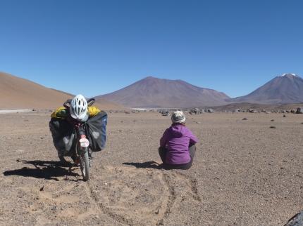 caminante et moi - route des lacs sur lipez bolivie